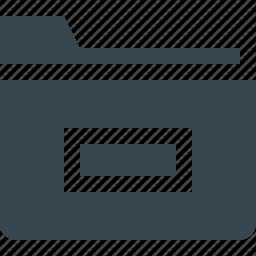 data, document, file, folder, minus, storage, tool icon