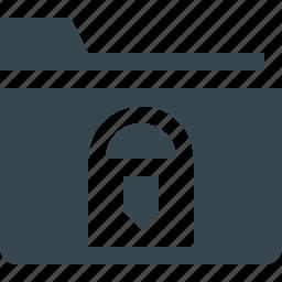 document, folder, key, lock, locked, secure, security icon