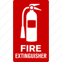 control, device, extinguisher, fire, sign icon