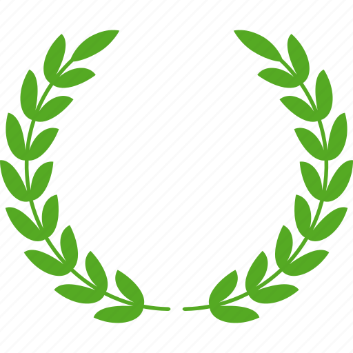 achievement, award, glory, green, laurel, victory, wreath icon
