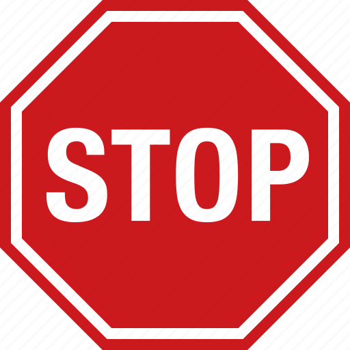 octagon, red, road, sign, stop, traffic, warning icon