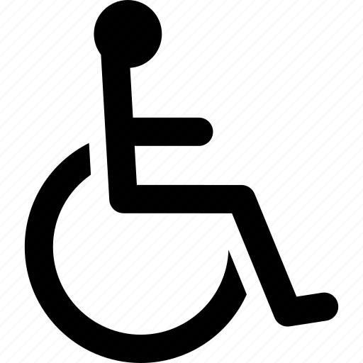 chair, disability, disabled, handicap, sign, wheel, wheelchair icon