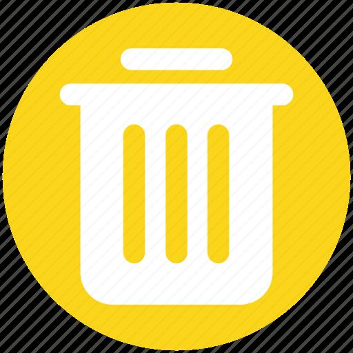 Basket, bin, dust, dust bin, household, trash icon - Download on Iconfinder