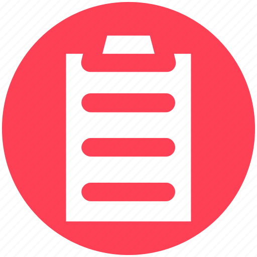 Clipboard, file, page, paper, pencil, sheet icon - Download on Iconfinder
