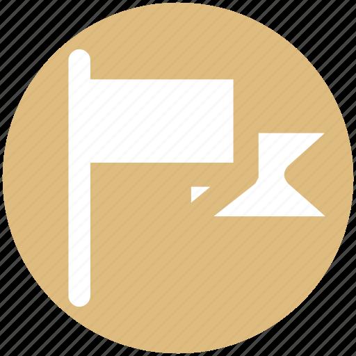 Flag, goal, location flag, sign, warning icon - Download on Iconfinder