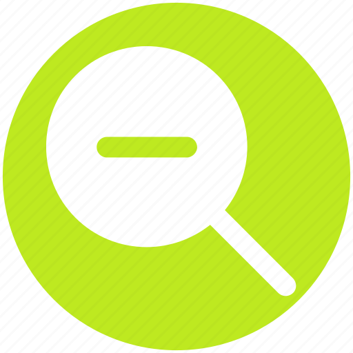 Find, magnifier, magnifier glass, minus, out, zoom icon - Download on Iconfinder
