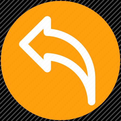 arrow, back, direction, left, left arrow icon
