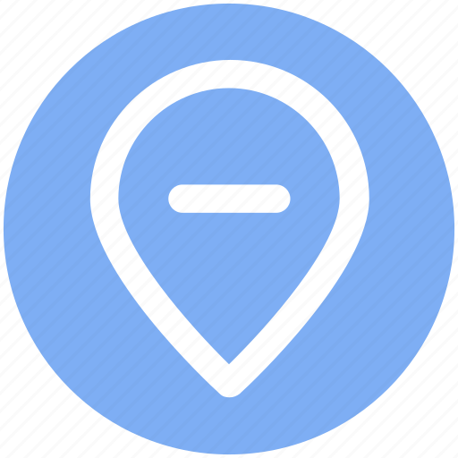 Location, map, minus, pin, world location icon - Download on Iconfinder
