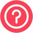 ask, help, logic, mark, question, question sign icon