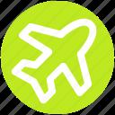 aircraft, airplane, flight, plane, transport, travel
