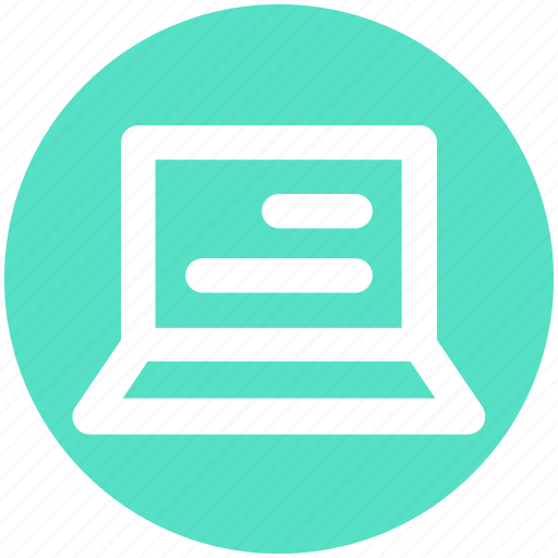 Computer, laptop, mac book, notebook, reading, screen icon - Download on Iconfinder