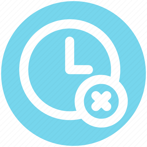 Alarm, circle, clock, cross, hours, watch icon - Download on Iconfinder