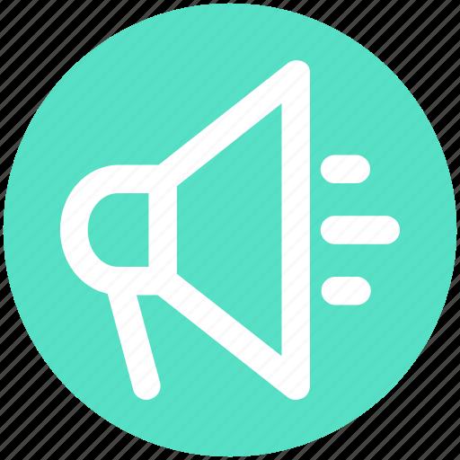 Advertise, loudspeaker, megaphone, promote, round, volume icon - Download on Iconfinder