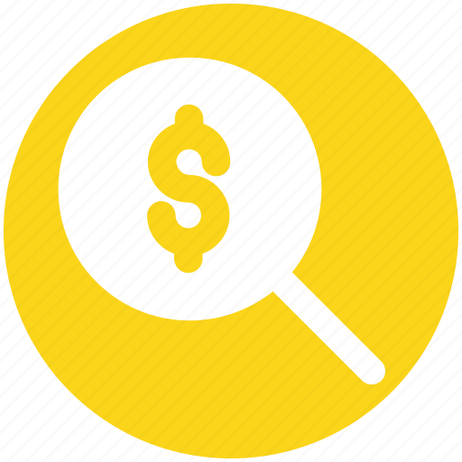 Dollar sign, find, magnifier, magnifier glass, search, zoom icon - Download on Iconfinder