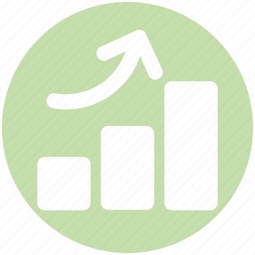 Arrow, bar, chart, diagram, graph, pie chart, up icon - Download on Iconfinder