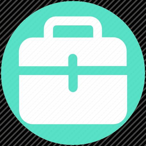 Bag, brief case, case, hand bag, school bag, suit case icon - Download on Iconfinder