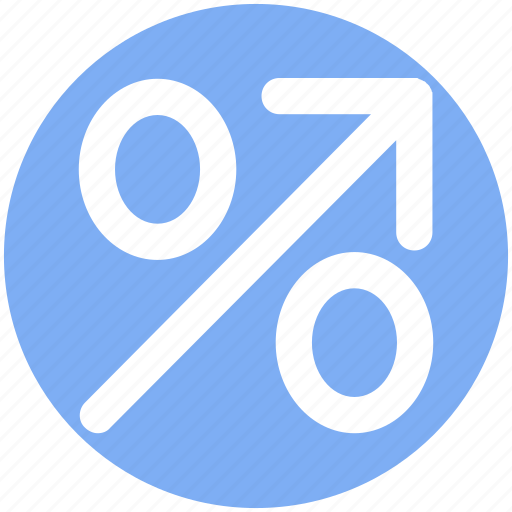 Arrow, discount, percentage, percentage sign, percentage up arrow, up icon - Download on Iconfinder