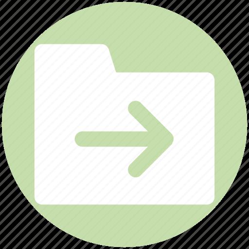 Archive, computer folder, file folder, folder, right, saving folder icon - Download on Iconfinder