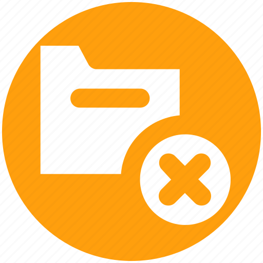 Archive, computer folder, cross, file folder, folder, saving folder icon - Download on Iconfinder