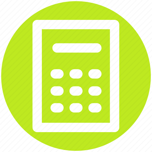 Calculation, calculator, machine, accounting, calc, math icon