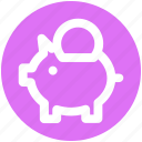 bank, coin, coin saving, piggy, piggy coin, saving icon