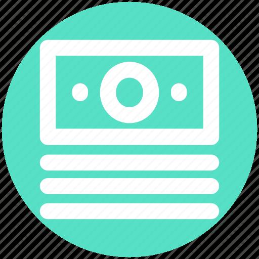 Cash, dollar, dollar notes, dollars, money, notes icon - Download on Iconfinder