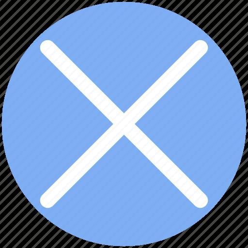 Remove sign, cross, remove, wrong, del, delete icon