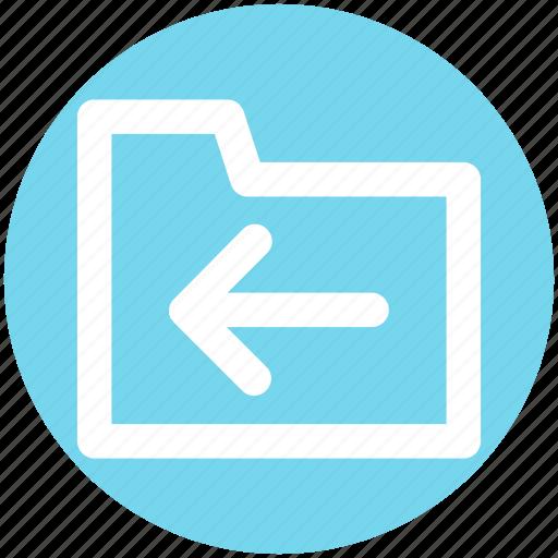 Archive, computer folder, file folder, folder, left, saving folder icon - Download on Iconfinder