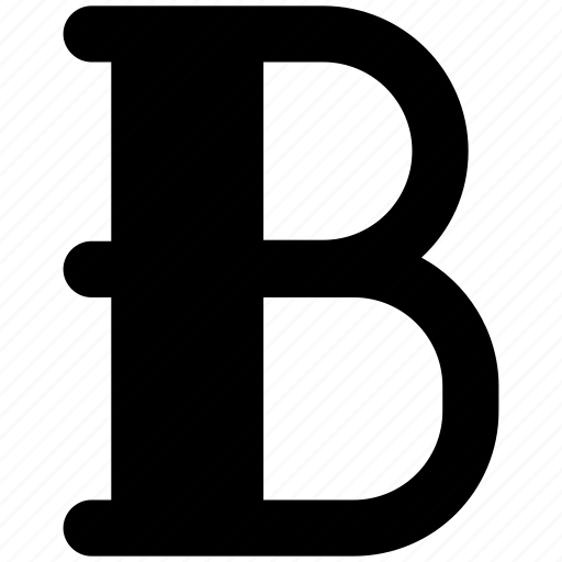 b sign, edit, font, text icon