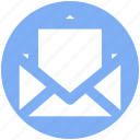email, envelope, letter, mail, message, open envelope icon