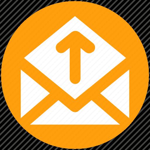 Email, envelope, letter, mail, message, open envelope, up icon - Download on Iconfinder