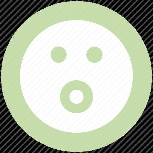 Emoji, emoticons, emotion, face, smiley face, surprise icon - Download on Iconfinder