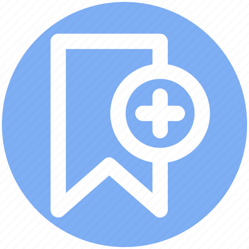 Add, aids, book, bookmark, plus sign, ribbon icon - Download on Iconfinder