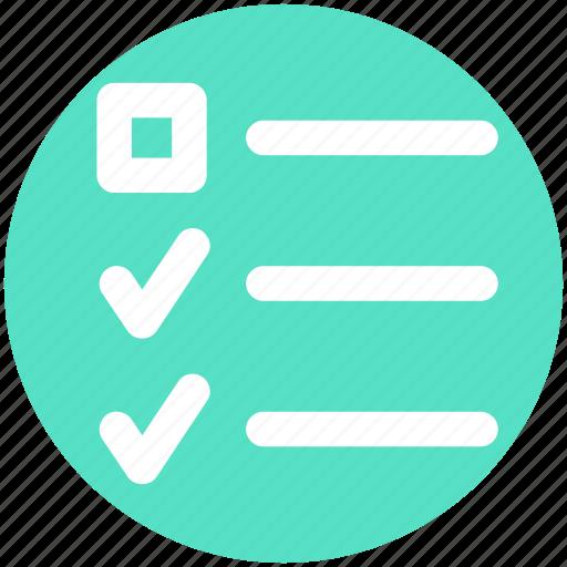 Check mark, checklist, list, task, tick, tick mark icon - Download on Iconfinder