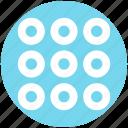 circle, circles, group, info, menu, options, set