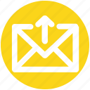 arrow, envelope, up, letter, mail, message, email