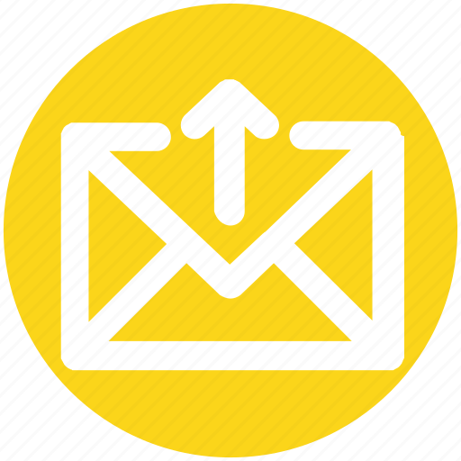 Arrow, email, envelope, letter, mail, message, up icon - Download on Iconfinder