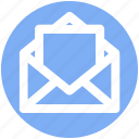 email, envelope, letter, mail, message, open envelope