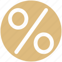 discount, interest, percent, percentage, percentage sign, sales icon