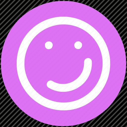 emoji, emotion, face, smiley face, smirking icon