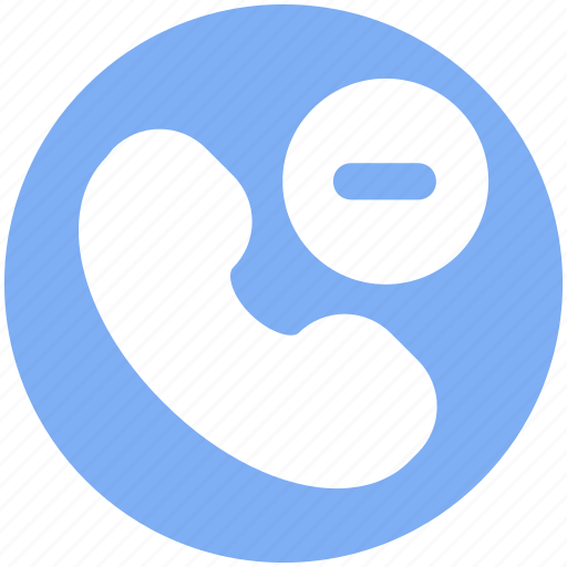 Communication, minus, phone, phone receiver, receiver, remove, telephone icon - Download on Iconfinder