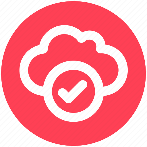 Accept, cloud, data, good, storage icon - Download on Iconfinder