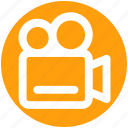 camera, film shot, movie camera, tripod, video, video camera icon