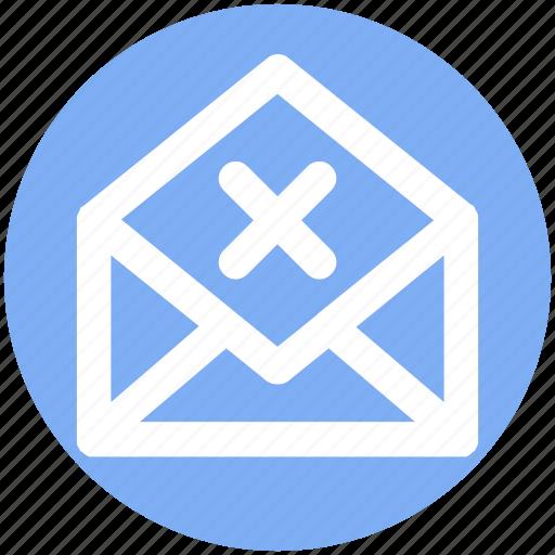 Delete, email, envelope, letter, message, open envelope, reject icon - Download on Iconfinder