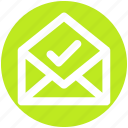 envelope, accept, open envelope, letter, mail, message, email