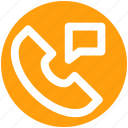 communication, message, phone, phone receiver, receiver, telephone icon