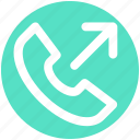 arrow, call, dial call, phone, received, receiver icon