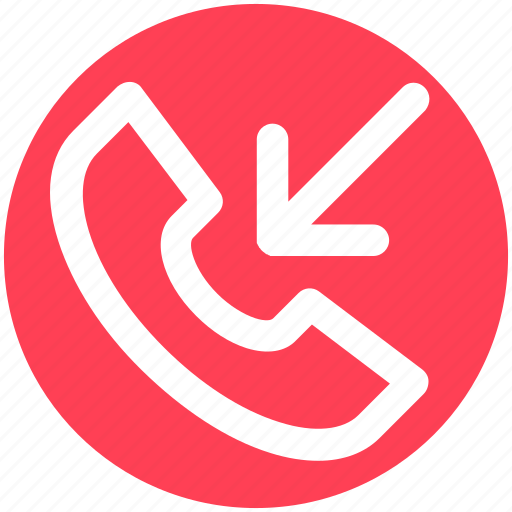 Arrow, call, incoming call, phone, received, receiver icon - Download on Iconfinder