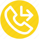 arrow, call, incoming, received, receiver, telephone icon