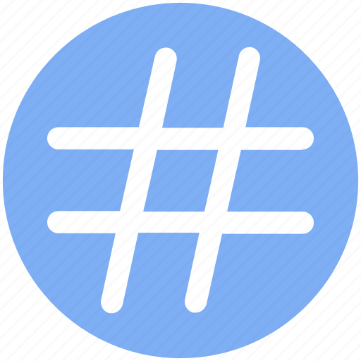 hash, hash tag, number, numerical, tag, tag hash icon